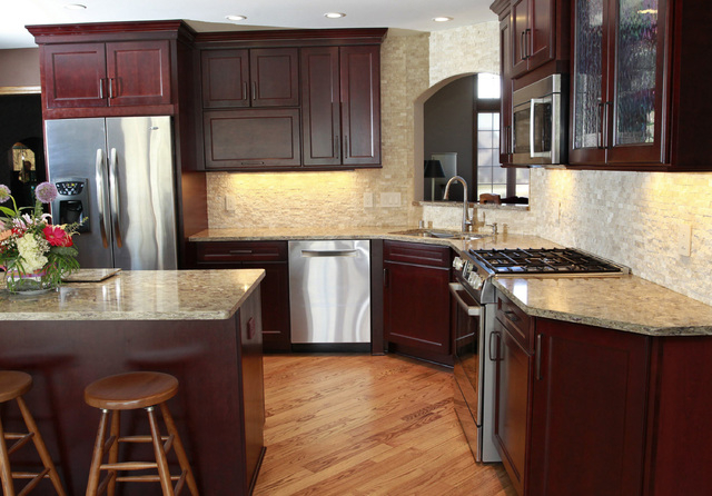 Angela Peterson/Milwaukee Journal Sentinel The Newly Remodeled Kitchen Of  Richard Goniu And His Wife