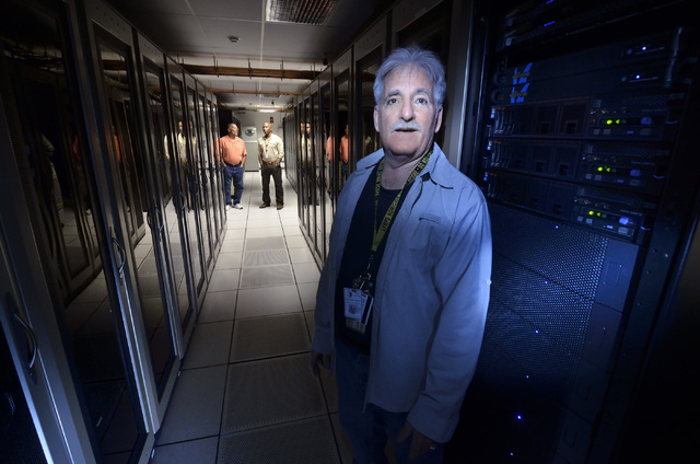 Richard Gray, network supervisor for Clark County information technology, is shown in the computer room at the government data center on Friday, April 3, 2015. (Bill Hughes/Las Vegas Review-Journal)