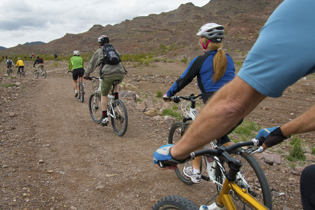 Henderson residents cycle near the McCullough Hills Trailhead, 295 E. Mission Drive. (Special to View)