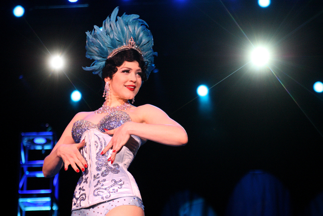 Bonnie Fox performs her routine at the Viva Las Vegas Rockabilly Weekend Burlesque Showcase at the Orleans hotel-casino on Friday, April 3, 2015. (Michael Quine/Las Vegas Review-Journal) Follow Mi ...