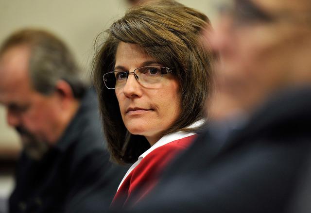 Catherine Cortez Masto attends a Board of Regents meeting. (David Becker/Las Vegas Review-Journal)