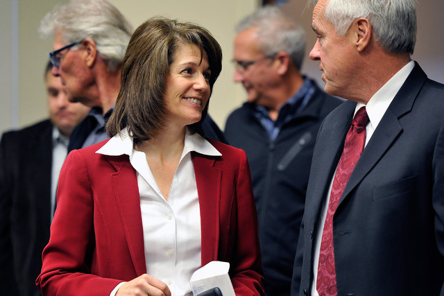 David Becker/Special to the Pahrump Valley Times Catherine Cortez Masto, left, has received a series of big endorsements in her bid to replace retiring U.S. Sen. Harry Reid next year. The Democrat ...