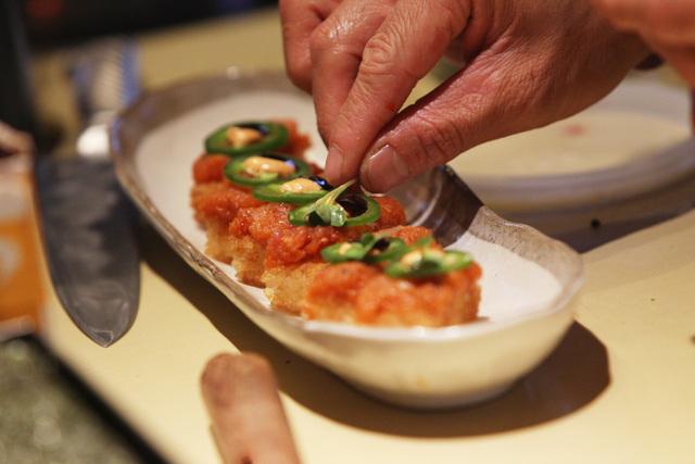 Crispy Rice Delight is shown at Lucky Foo's Friday, April 10, 2015. (Sam Morris/Las Vegas Review-Journal)