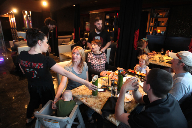 Patrons are waited on at Lucky Foo's April 10, 2015. (Sam Morris/Las Vegas Review-Journal)