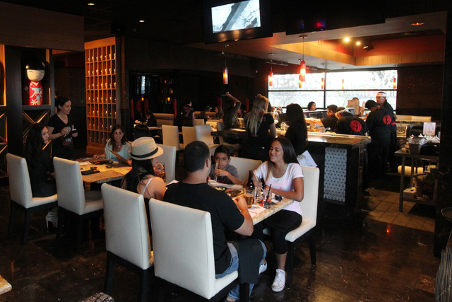The main dining room is shown at Lucky Foo's April 10, 2015. (Sam Morris/Las Vegas Review-Journal)