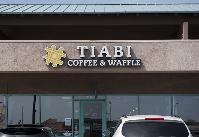 The exterior of Tiabi Coffee & Waffle Bar is seen at 3961 Maryland Parkway in Las Vegas on Friday, Apr. 10, 2015. (Martin S. Fuentes/Las Vegas Review-Journal)