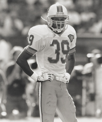 Former UNLV defensive back Charles Dimry in uniform for the Tampa Bay Buccaneers. (Courtesy of UNLV sports information department)