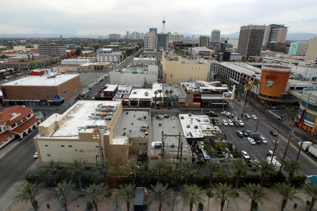 This is a view of downtown Las Vegas as seen from the Ogden Wednesday, March 18, 2015. (Sam Morris/Las Vegas Review-Journal)