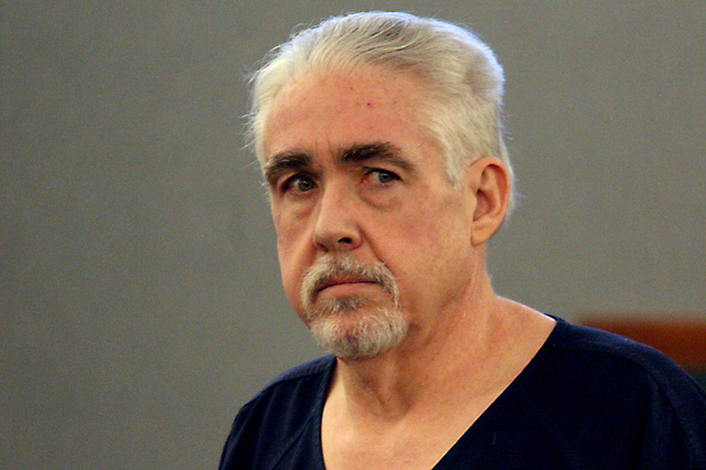 Robert Dixon Dunn faces two counts of murder, two counts of robbery and 11 counts of theft. Prosecutors plan to seek the death penalty. (Michael Quine/Las Vegas Review-Journal)