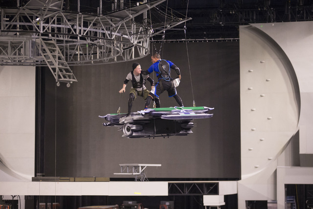 "Performers rehearse for ""Marvel Universe Live."" (Special to View)"