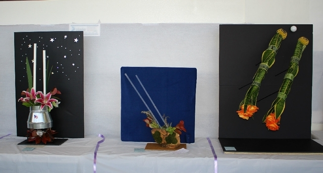 A space launch plant display is shown at the 2014 Flower Show hosted by the Sunset Garden Club. This year's event is planned from noon to 4 p.m. April 11 at the Paseo Verde Library, 280 S. Green V ...