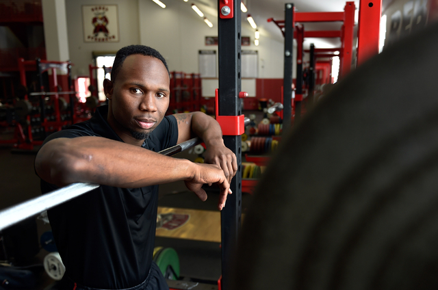 UNLV football strength and conditioning coach Keith Belton poses in his weight room at UNLV on Monday, April 6, 2015, in Las Vegas. (David Becker/Las Vegas Review-Journal)
