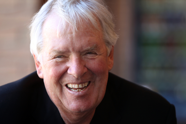 Bill Foley, the lead investor in a bid to start a National Hockey League team at the new $375 million privately financed arena on the Strip, talks to a reporter at the Las Vegas Review-Journal off ...