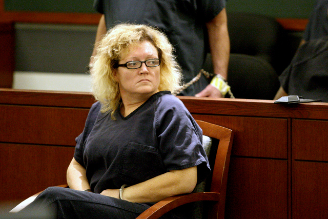 Karen Furlough awaits sentencing on theft and forgery charges after she befriended Delores Hales and stole up to $250,000 from her. Tuesday, March 31, 2015 (Michael Quine/Las Vegas Review-Journal) ...