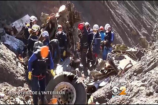 Germanwings crash site. Courtesy (CBS New York/NDN)