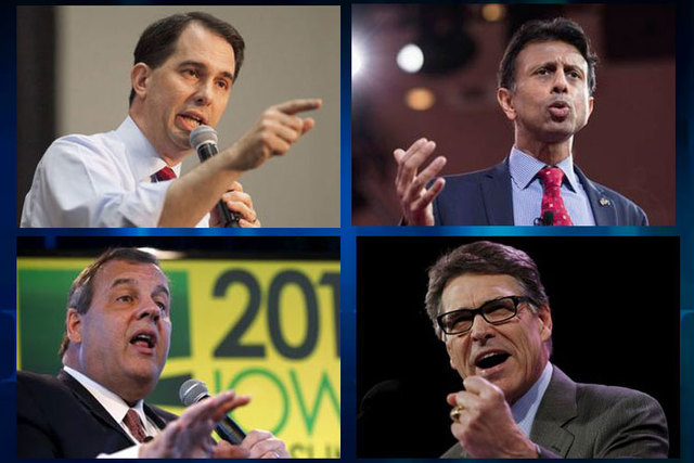 Several Republican governors likely to run for president have secured hundreds millions of dollars under Obamacare while working to dismantle the healthcare law. Clockwise from bottom left, Govs.  ...