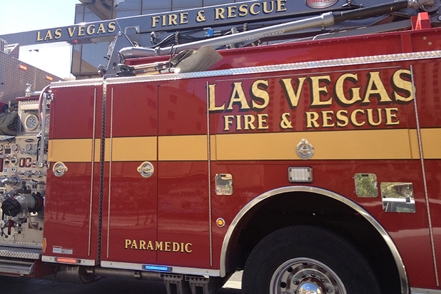 Las Vegas Fire Department (Kristen DeSilva/Las Vegas Review-Journal)