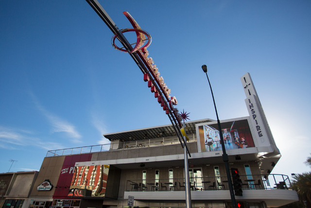 The exterior of Inspire, a three-story building featuring a news cafe, a theater and a few bars, is photographed Tuesday, Dec. 31, 2013 at the corner of Fremont Street and Las Vegas Blvd. (Samanth ...