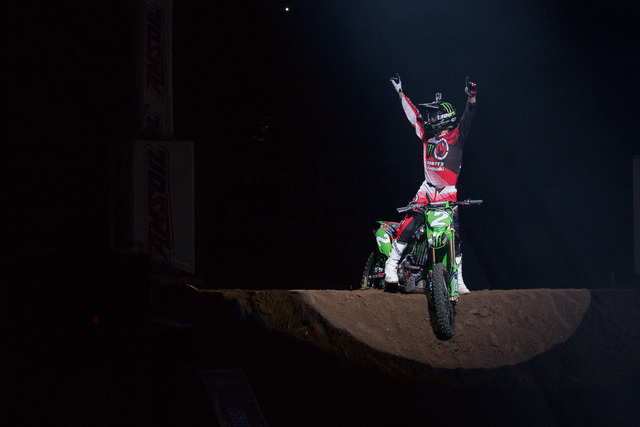 Jacob Hayes is tied atop the Arenacross standings going into Friday's season finale at the South Point Arena. (Courtesy photo)