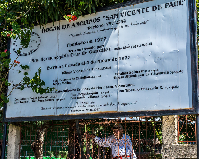 The sign of a nursing home in Jinotepe, Nicaragua is seen, Jan. 2015. The Vital Life Foundation is a Marquis and Consonus foundation, founded to support organizations and programs that provide mea ...