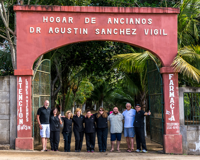 Volunteers from the Vital Life Foundation and the Jesse F. Richardson Foundation pose for a photo outside of a nursing home in Jinotepe, Nicaragua, Jan. 2015. The Vital Life Foundation is a Marqui ...