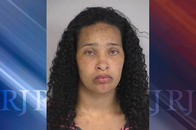 Kellie Phillips was arrested Tuesday, April 7, 2015, by North Las Vegas police on a warrant for two counts of child abuse. (Courtesy/North Las Vegas Police Department)