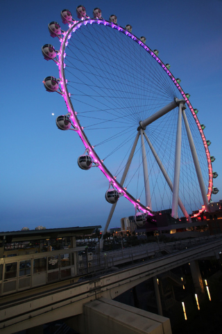 The High Roller at The Linq is seen Tuesday, March 31, 2015. (Sam Morris/Las Vegas Review-Journal) Follow Sam Morris on Twitter @sammorrisRJ