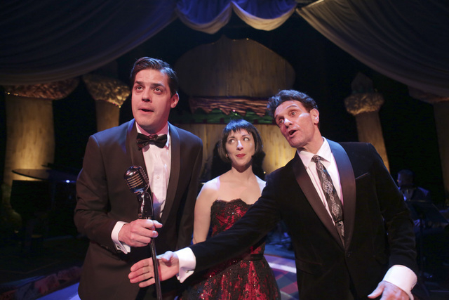 """Former Las Vegas """"Phantom"""" star Anthony Crivello as Louis Prima, right, with Vanessa Stewart as Keely Smith in """"Louis & Keely Live At The Sahara."""" (Courtesy/Royal George Theatre/Charles Osgood Pho ..."""