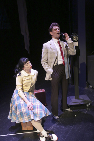 """Former Las Vegas """"Phantom"""" star Anthony Crivello as Louis Prima with Vanessa Stewart as Keely Smith in """"Louis & Keely Live At The Sahara."""" (Courtesy/Royal George Theatre/Charles Osgood Photography)"""