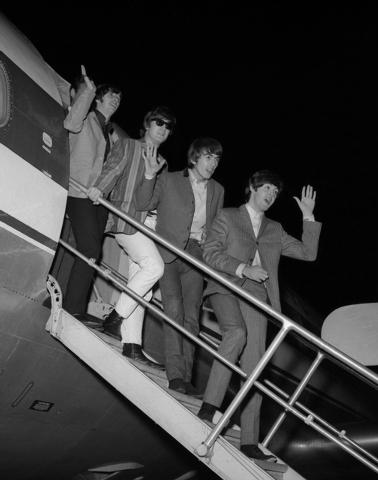 The Beatles arrive in Las Vegas on Aug. 19, 1964. (Courtesy, Las Vegas News Bureau photo)