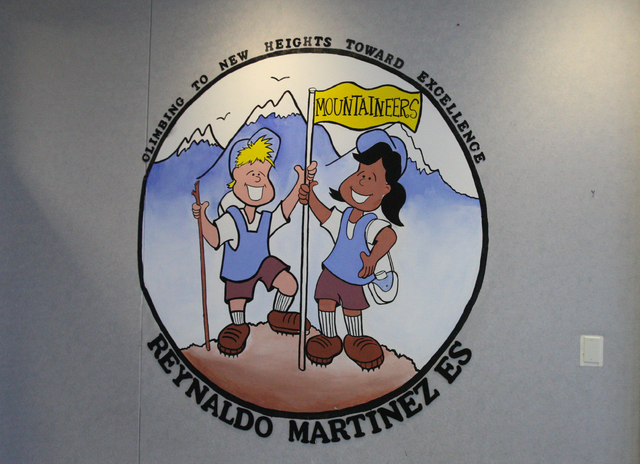A mural decorates the entrance of Martinez Elementary School. (Michael Quine/View)