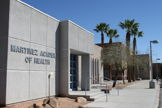 Martinez Elementary School is one of three in the Clark County School District with its own health clinic. (Michael Quine/View)