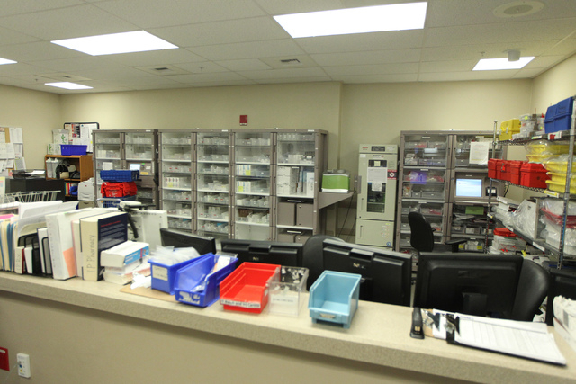 The interior of the University Medical Center pharmacy in Las Vegas is seen during a tour Wednesday, April 8, 2015. (Erik Verduzco/Las Vegas Review-Journal) Follow Erik Verduzco on Twitter @Erik_V ...