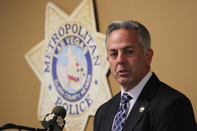 Sheriff Joe Lombardo speaks during Metro's commendation ceremony Wednesday, April 22, 2015. (Sam Morris/Las Vegas Review-Journal) Follow Sam Morris on Twitter @sammorrisRJ