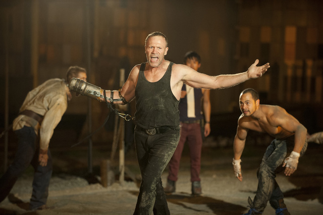 "Merle Dixon (Michael Rooker), center, and Martinez (Jose Pablo Cantillo) of ""The Walking Dead."" (Courtesy/Gene Page/AMC)"