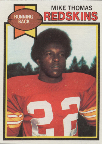 Former UNLV running back Mike Thomas' trading card while with the Washington Redskins. (Courtesy of UNLV sports information department)