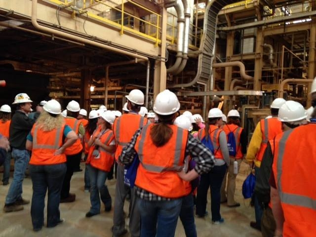Nevada Teachers learn about mining during a tour of Molycorp in Mountain Pass, Calif., as part of the Southern Nevada Teachers Workshop April 1, 2015. (Special to View)