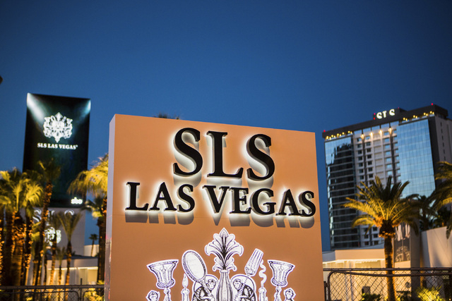 SLS Las Vegas on the corner of Las Vegas Boulevard and Sahara Avenue as seen Wednesday, Aug, 6, 2014. (Jeff Scheid/Las Vegas Review-Journal)