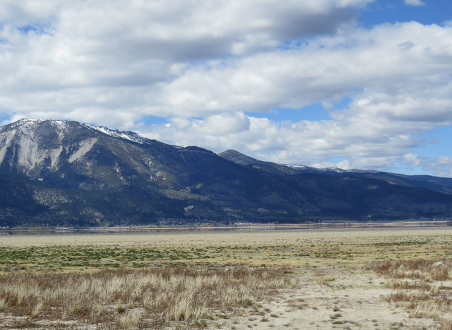 Washoe Lake north of Carson City is shown Wednesday, April 8, 2015, shriveling after four years of drought. The shallow lake, that is 2 miles wide and 4 miles long in normal years, has shrunk to a ...