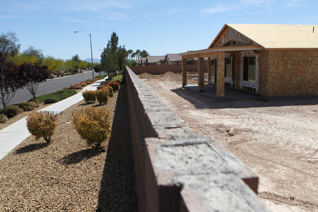 Homes Under Construction Are Seen At The Shea Senior Community Ardiente Near Pecos Road