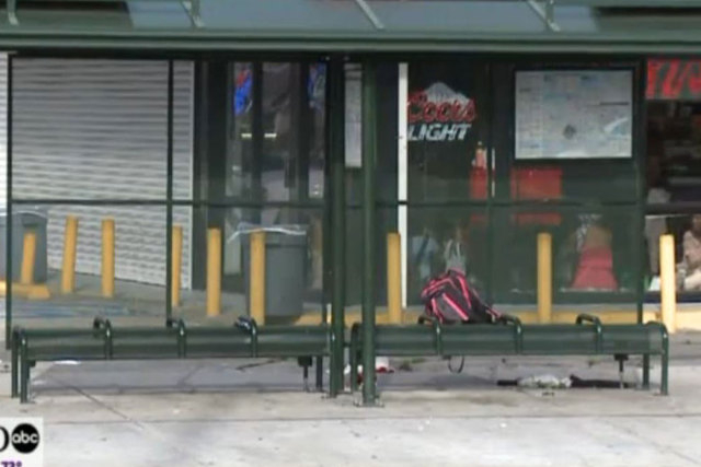 A man opened fire on three teenage students at a New Orleans bus stop on Monday, April 14, 2015. Two were in stable condition and one was critical.(Screengrab/WGNO)