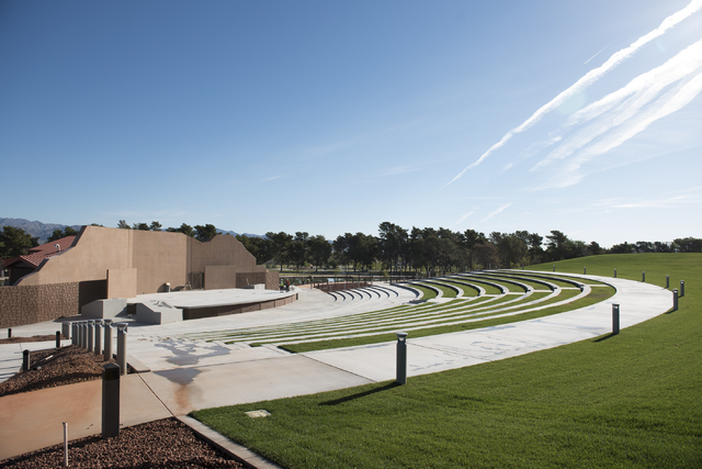 The seating area around the stage is shown as construction continues at the new amphitheater at Craig Ranch Regional Park in North Las Vegas on Wednesday, April 29, 2015. October 2015 is the estim ...