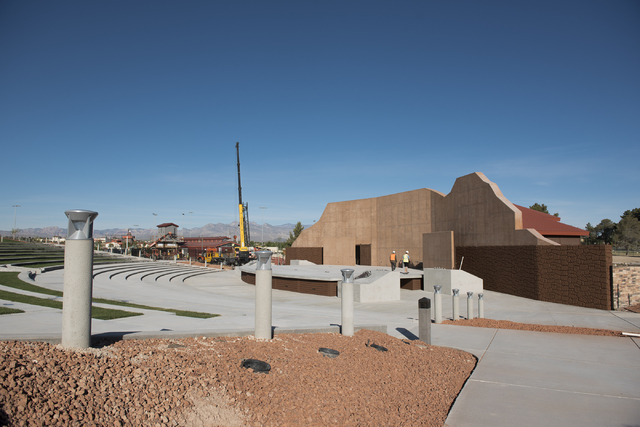 Construction continues at the new amphitheater at Craig Ranch Regional Park in North Las Vegas on Wednesday, April 29, 2015. October 2015 is the estimated grand opening of the amphitheater. (Marti ...