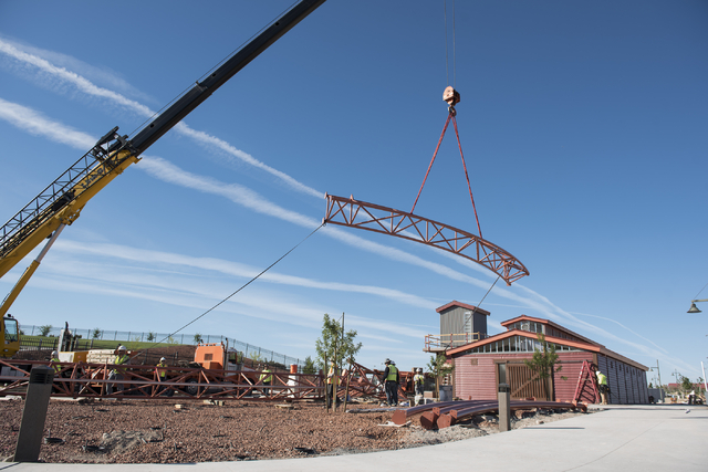 Construction continues near the new amphitheater at Craig Ranch Regional Park in North Las Vegas on Wednesday, April 29, 2015. October 2015 is the estimated grand opening of the amphitheater. (Mar ...