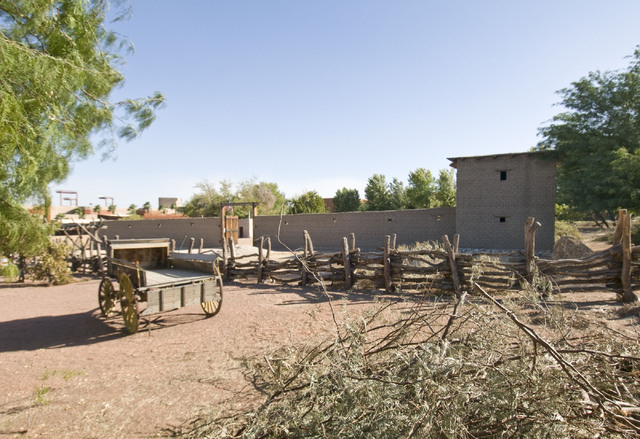 The Old Mormon Fort on Washington Avenue, site of Southern Nevada's first nonnative settlement, dating to 1855, is a good place to learn about the Old Spanish Trail. (Las Vegas Review-Journal fi ...