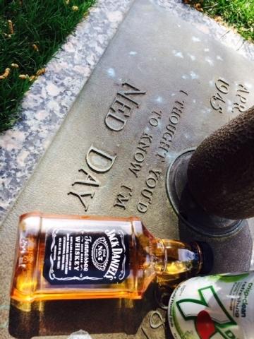 The gravestone of former R-J columnist Ned Day. (Courtesy)