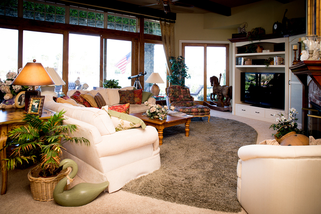 Tonya Harvey/Real Estate Millions  The living room in the Coletti home.