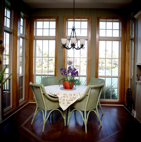 Tonya Harvey/Real Estate Millions  The breakfast nook in the Coletti home.