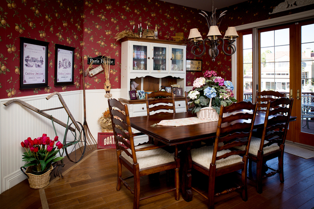 Tonya Harvey/Real Estate Millions  The dining room in the Coletti home.