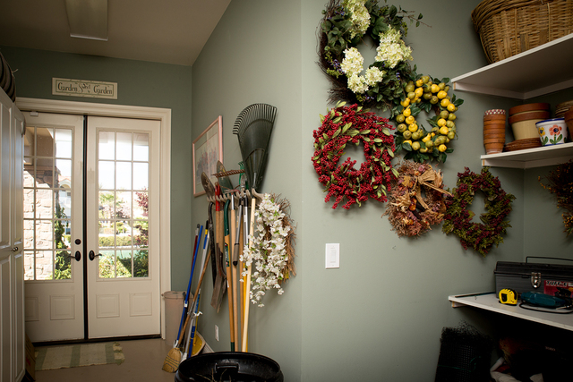 Tonya Harvey/Real Estate Millions  The Coletti home has a gardening room with access from the garage and back porch.